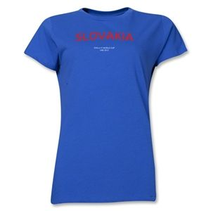 Slovakia 2013 FIFA U 17 World Cup UAE Womens T Shirt (Royal)