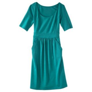 Merona Womens Ponte Elbow Sleeve Dress w/Pockets   Monterey Bay   M