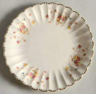 Limoges American New Princess (Scalloped,Gold Trm) Salad Plate, Fine China Dinne