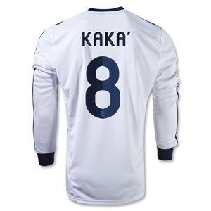 adidas Real Madrid 12/13 KAKA LS Home Soccer Jersey