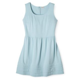 Merona Womens Plus Size Short Sleeve Ponte Dress   Blue 1X