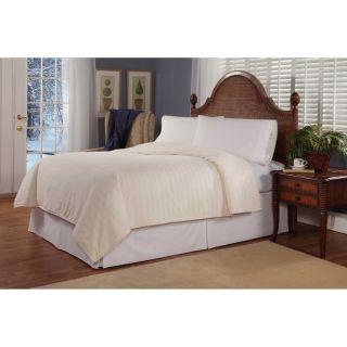 Soft Heat Plush Triple Rib Electric Warming Blanket Natural   243 101 12 11 030