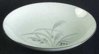 Wentworth Silver Wheat Coupe Soup Bowl, Fine China Dinnerware   Gray Wheat,Plati