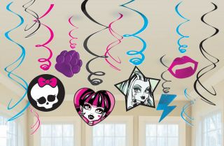 Monster High Value Pack Hanging Swirl Decorations