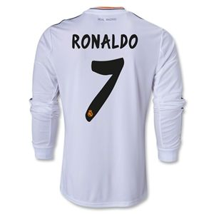 adidas Real Madrid 13/14 RONALDO LS Home Soccer Jersey