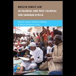 Muslim Family Law in Sub Saharan Africa