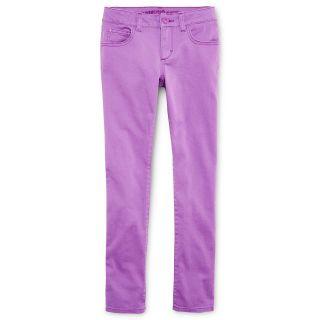 ARIZONA Colored Twill Skinny Jeans   Girls 6 16, Slim & Plus, Dewberry, Girls