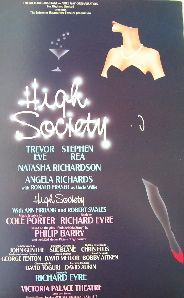 High Society (Original London Theatre Window Card)