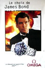 OMEGA WATCH JAMES BOND PROMOTIONAL POSTER STYLE B (FRENCH ROLLED)