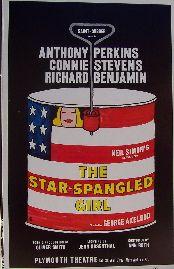 The Star Spangled Girl (Original Broadway Theatre Window Card)