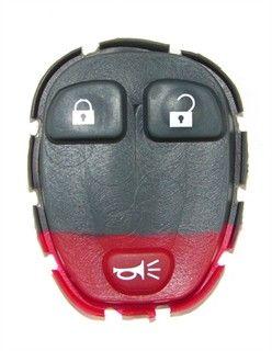 3 Button Buick, Chevy, Pontiac, Saturn Minivan Remote Replacement Button Pad
