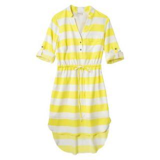 Merona Womens Drawstring Shirt Dress   Striped   S