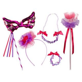 Whimsy & Wonder Pink Wand, Mask & Jewelry Set Bundle