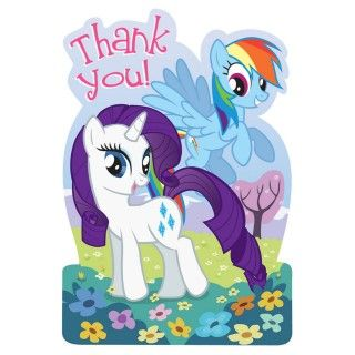 My Little Pony Friendship Magic Thank You Notes