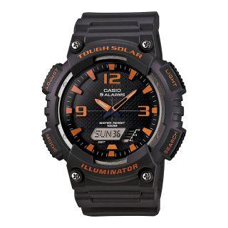 Casio Analog Digital Solar Sports Watch, Gray, Mens