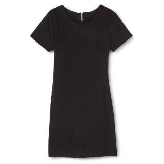 Merona Womens Knit T Shirt Dress   Black   M