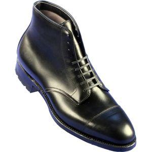 Alden Mens 9 Eyelet Cap Toe Boot Commando Sole Calfskin Black Boots, Size 7.5 D   40727C
