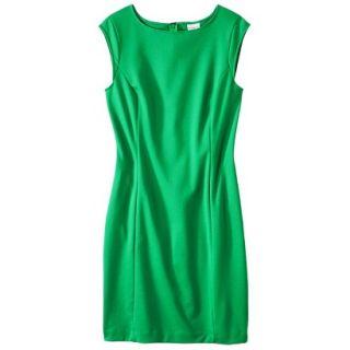 Merona Womens Ponte Sheath Dress   Mahal Green   XXL
