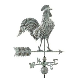 Good Directions 27 Rooster Weathervane   Blue Verde Copper