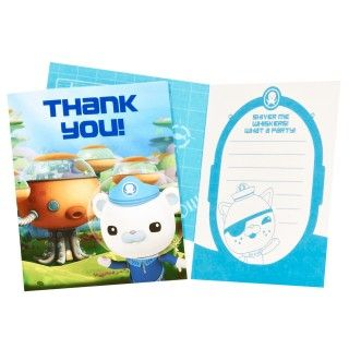 The Octonauts Thank You Notes