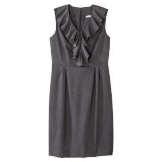 Merona Petites Sleeveless Sheath Dress   Gray 12P