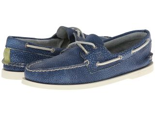 Sperry Top Sider A/O 2 Eye Washed Mens Lace Up Moc Toe Shoes (Navy)