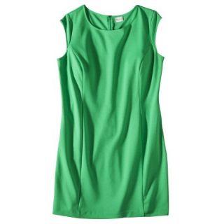 Merona Womens Plus Size Sleeveless Ponte Sheath Dress   Green 4
