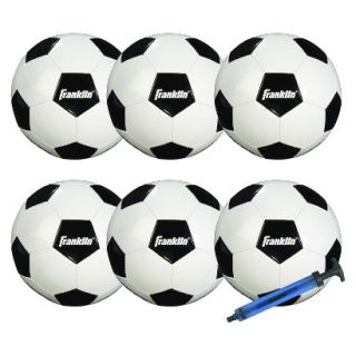 Franklin Sports Competition 100 6 Pack of Soccerballs with Pump   Size 5