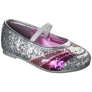 Toddler Girls Hello Kitty Ballet   Silver 2
