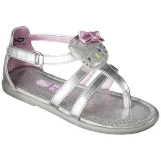 Toddler Girls Hello Kitty Sandals   Silver 9