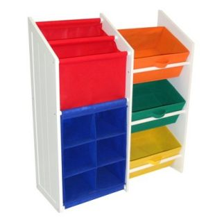 Kids Storage Unit: RiverRidge Kids White and Primary Colors Super Storage with