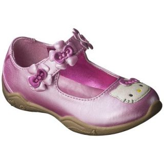 Toddler Girls Hello Kitty Mary Jane Shoe   Pink 6