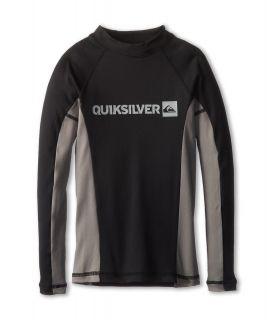 Quiksilver Kids Prime L/S Surf Shirt Boys Swimwear (Gray)