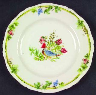 Gien Villa Medicis Bread & Butter/Canape Plate, Fine China Dinnerware   Fruit,Fl