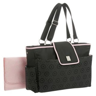 wendy bellissimo quilted tote diaper bag fuschia. Black Bedroom Furniture Sets. Home Design Ideas