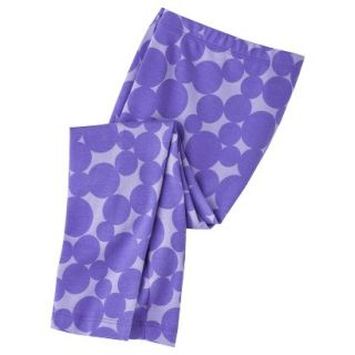 Circo Infant Toddler Girls Circle Print Legging   Purple 3T