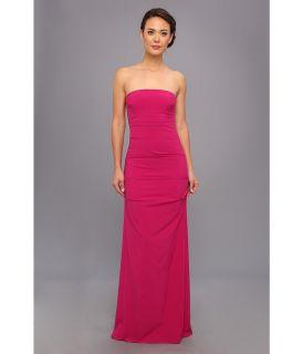 Nicole Miller Strapless Column Gown Womens Dress (Pink)