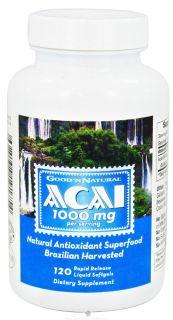 Good N Natural   Acai 1000 mg.   120 Softgels