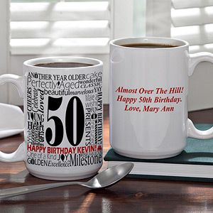 Large Personalized Birthday Coffee Mug   Another Year