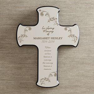 Personalized Memorial Wall Cross   In Loving Memory