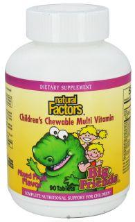 Natural Factors   Multi Vitamin Big Friends Childrens Chewable Mixed Fruit   90 Tablets