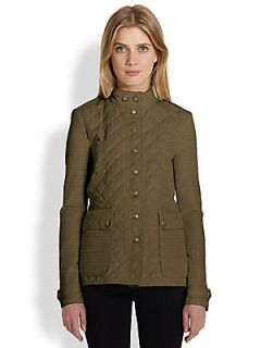 Burberry Brit Willsmoore Quilted Jacket   Military Khaki