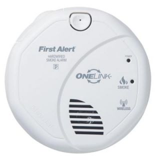 first alert onelink 120 volt ac wireless smoke detector with photo electric s. Black Bedroom Furniture Sets. Home Design Ideas