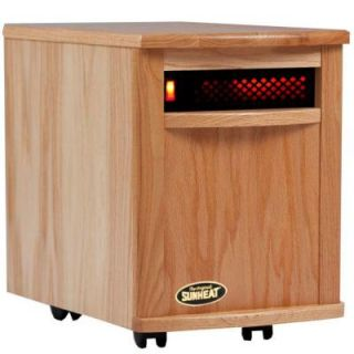 SUNHEAT 17.5 in. 1500 Watt Infrared Electric Portable Heater with Cabinetry   Natural Oak SH 1500 Natural Oak