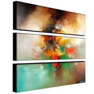 Trademark Fine Art 32 in. x 10 in. Abstract I 3 Piece Canvas Art Set MA064 set