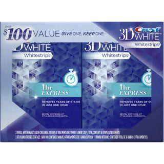 Crest 3D White Whitestrips Dental Whitening Kit, (Pack of 2)
