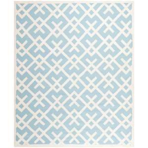 Safavieh Dhurries Light Blue/Ivory 8 ft. x 10 ft. Area Rug DHU552B 8