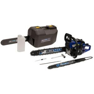 Blue Max 14/20 in. 45 cc Gas Chainsaw Combo with Blow Molded Case 8902