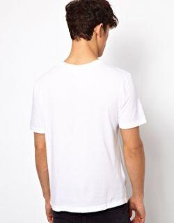 Lacoste Live  Camiseta con estampado gráfico de graffiti de dibujo animado de Lacoste Live en
