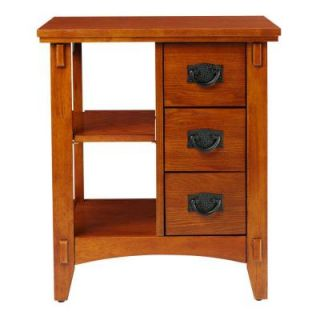 Home Decorators Collection 20 in. W Artisan Light Oak End Table 0807800950